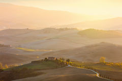 Sunny rural Tuscany landscape Royalty Free Stock Photo