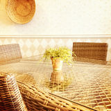 Sunny rustic interior Stock Photo