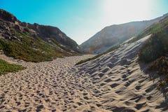 Sunny Sand Dunes Travel Path royalty free stock photos