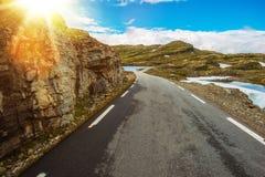 Sunny Scandinavian Road Imágenes de archivo libres de regalías