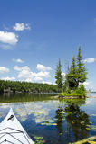 Sunny Scenic on a Northern Lake Royalty Free Stock Images