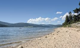 Sunny Schluchsee beach Stock Photography