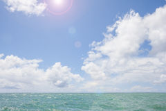 Sunny sea background Royalty Free Stock Photography