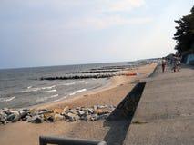 Sunny sea beach. Sunny beach of Baltic Sea, Poland Royalty Free Stock Image