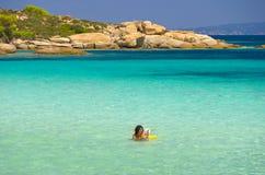Sea coast at summer Stock Images