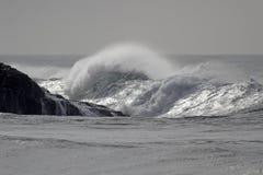 Sunny sea wave royalty free stock photography