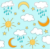 Sunny seamless baby pattern, wallpaper Stock Images