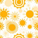 Sunny seamless pattern Stock Image