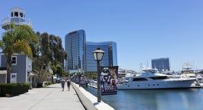 Sunny Seaport Village in San Diego Shot Fotografia Stock