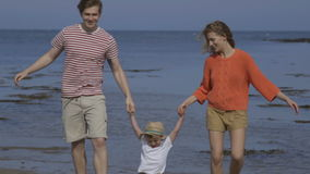 Sunny seaside fun stock video footage