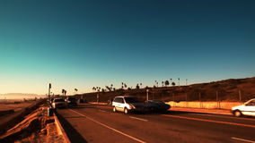 Sunny Seaside Traffic stock footage