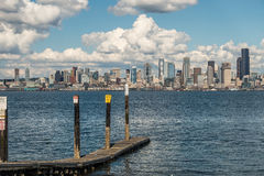 Sunny Seattle Skyline 4 Stock Image