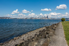 Sunny Seattle Skyline 10 Royalty Free Stock Photo