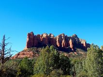 Sunny Sedona Day: Red Rocks and Blue Skies. A series of photos of a late December day in Sedona, Arizona. All photos feature the red rock formations unique to royalty free stock image