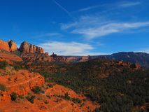 Sunny Sedona Day: Red Rocks and Blue Skies. A series of photos of a late December day in Sedona, Arizona. All photos feature the red rock formations unique to royalty free stock photo