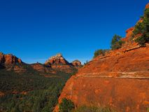 Sunny Sedona Day: Red Rocks and Blue Skies. A series of photos of a late December day in Sedona, Arizona. All photos feature the red rock formations unique to royalty free stock photos