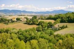 Sunny September landscape of Tuscany, Italy Stock Photography