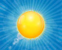 Sunny Shiny Background Vetora Illustration Imagens de Stock