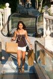 Sunny shopping Royalty Free Stock Image