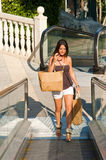 Sunny shopping Royalty Free Stock Image