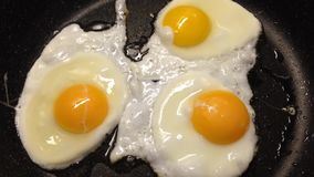 Sunny side eggs stock video