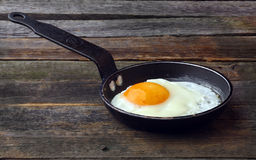 Sunny side up. Fried eggs  Sunny side up. Scrambled eggs from a single egg Stock Photography