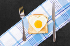 Sunny-side up egg. Royalty Free Stock Image