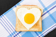 Sunny-side up egg. Royalty Free Stock Photo