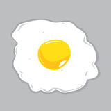 Sunny Side Up Egg Vector Illustration. Fried Egg cooked in Sunny Side Up style on a gray background. vector and jpg versions available royalty free illustration