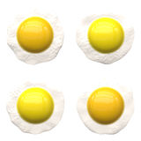 Sunny side up eggs. royalty free stock images