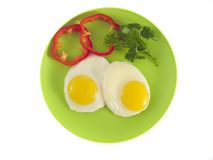 Sunny-side up eggs Royalty Free Stock Photos