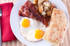 Sunny side up eggs Stock Photography