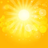 Sunny skies and bokeh. Vector background Royalty Free Stock Photo