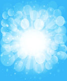 Sunny skies and bokeh. Vector background Stock Photo