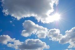 Sunny sky. Bright sun on a background sky Stock Photography
