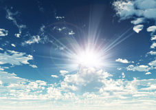 Sunny sky background Stock Images