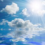 Sunny sky background Royalty Free Stock Photography