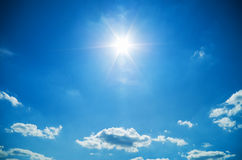 Sunny sky background. Royalty Free Stock Photos