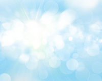Sunny sky blurred bokeh background vector illustration