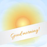 Sunny sky card Royalty Free Stock Photos