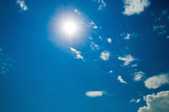 Sunny sky with clouds Stock Image