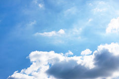 Sunny sky and clouds Stock Photography