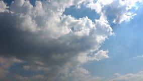 Sunny Sky Clouds Time Lapse celestial video estoque