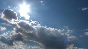 Sunny Sky Clouds Time Lapse celestial filme