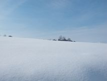 Sunny snow landscape Royalty Free Stock Photography