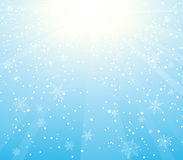 Sunny snowfall Royalty Free Stock Photo