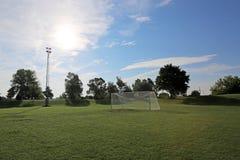 Sunny Soccer Field stock foto's