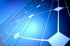 Sunny solar blue shiny panel, closeup Stock Photography