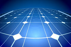 Sunny solar blue shiny panel, closeup Royalty Free Stock Images