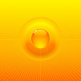 Sunny solar radiating background Royalty Free Stock Images